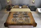 Leopard Animal Print Duvet Cover, Designer Bed Linen, Luxury Bedding, Printed Duvet, Devarshy Home