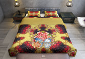 Baroque Royal Red Printed Duvet Cover, Luxury Bed Linen, Twin, Queen, King Bedding, Devarshy Home, GT