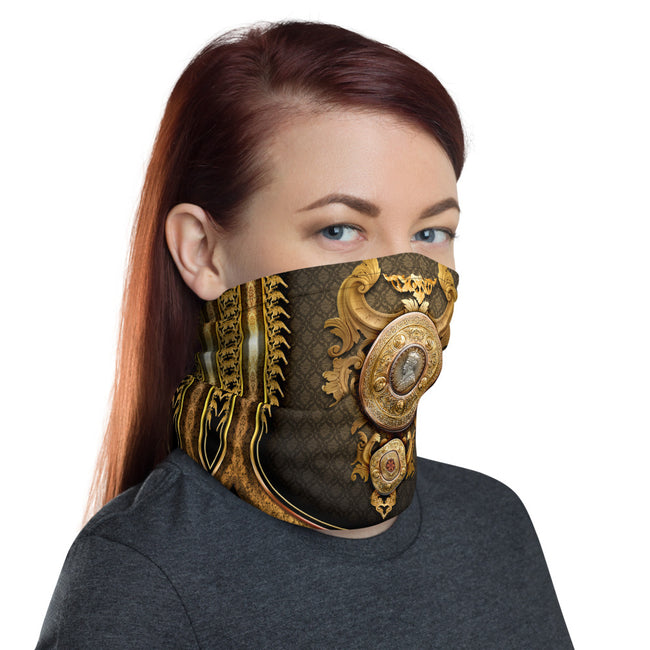 Heraldry Shield Printed Neck Gaiter (3 Colours), Unisex Face Mask For Protection, Face Cover / Neck Tube, PF - 11140B