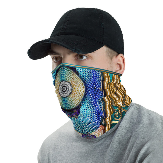 Disk Of Pearls Printed Neck Gaiter, Cloth Face Mask, Headband, Unisex Face Cover, Unisex Neck Tube, PF - 11148