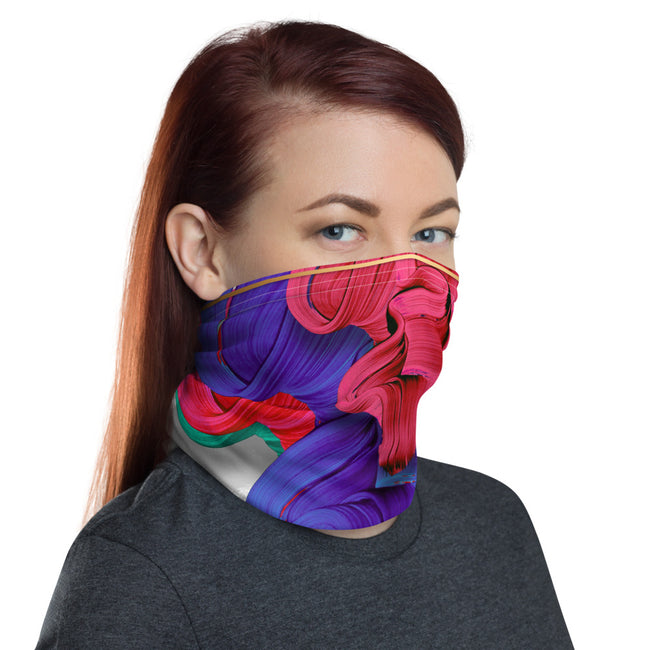 Colorful Brush Strokes Neck Gaiter, Reusable Face Mask, Cloth Face Cover/Neck Tube, PF - 11188