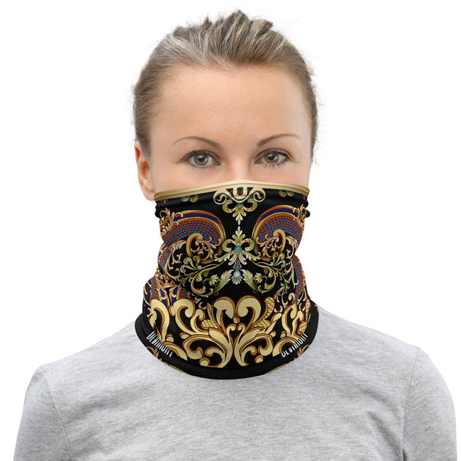 Decorative Baroque Neck Gaiter, Washable Face Mask, Fabric Face Cover/Neck Tube, PF - 11215