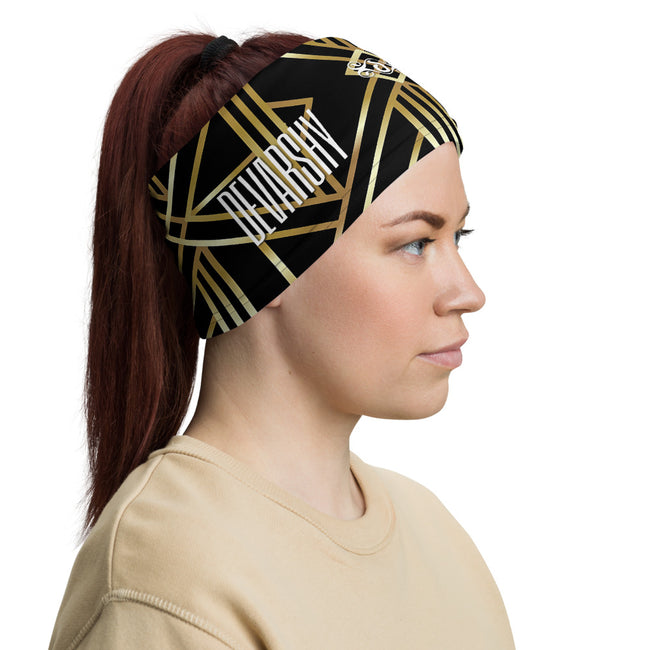 Art Deco Golden Triangles Neck Gaiter, Reusable Face Mask (3 Colors), Fabric Face Cover/Neck Tube, PF - 11217