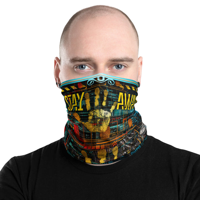 Stay Away WARNING Sign Neck Gaiter, 6 Feet Away Face Mask, PF - 11368