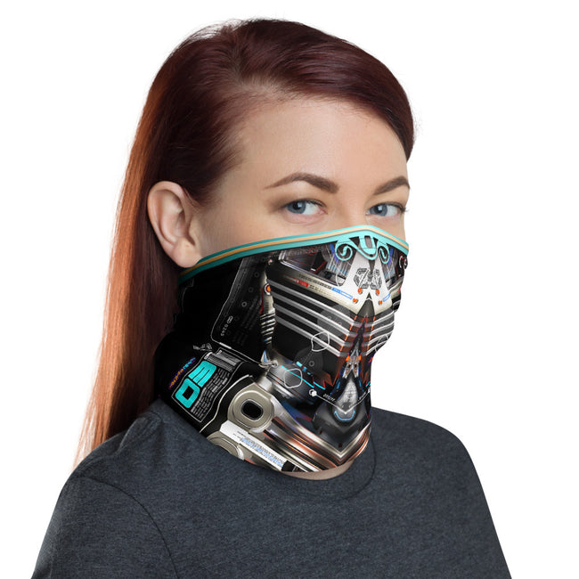 Futuretech X Printed Neck Gaiter, Fabric Face Mask, PF - 11371B