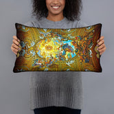 Devarshy ART CLASSIQUE Glory of the Mystical Lamb Printed Rectangular Pillow PF - 1005A