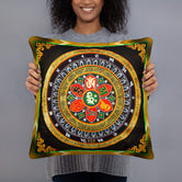 Devarshy NIRVANA ACHIEVED Tibetan Thangka Printed Square Throw Pillow PF - 109C2