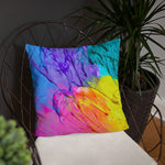 Devarshy ART MODERNE Colorful Paint Printed Square Throw Pillow PF - 1120A