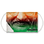 TriColor Mahatma Gandhi Face Mask With Filter And Nose Wires - 90026B