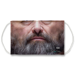 Grey Beard Mature Man Face Mask With Filter And Nose Wires - 11189
