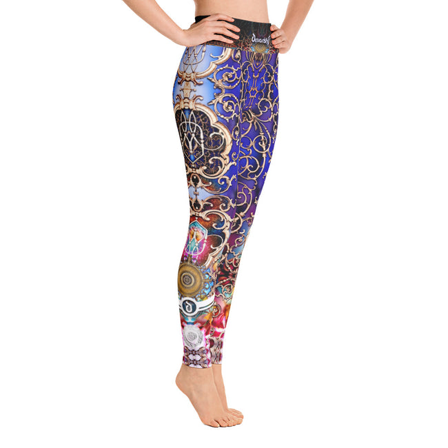 Devarshy BAROCOCO Royal Ornate Printed Spandex High Waist YOGA Leggings PF - 1053A