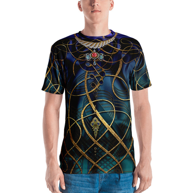 AURUM 79 Dark Spirals Devarshy Printed Crew Neck Men's T-Shirt PF - 1078A