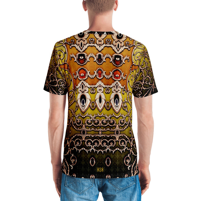 BAROCOCO Yellow Ornate Devarshy Printed Men's T-Shirt PF - 1053C