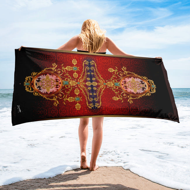 BAROCOCO Radiant Ornamental Devarshy Printed Beach Towel PF - 1093C