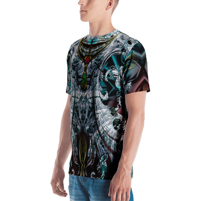 AERO-TERRANIUS Gradient Waves Devarshy Printed Men's T-Shirt PF - 1114C