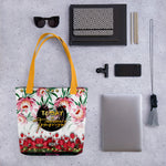 Florals Printed Tote Bag, Today Is Tomorrow's Yesterday Print Bag, Devarshy Bag, PF - TODAY01