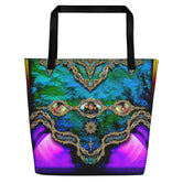BAROCOCO Articulated Turquoise Devarshy Canvas Printed Beach Bag PF - 1101C