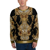 Luxury Animal Print Unisex Sweatshirt For Winter, PF - 0009B