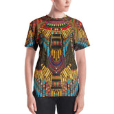 MAASAI-ENGAI Ornate Brown Devarshy Animal Print Women's T-Shirt PF - 1072B