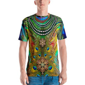 NATURE MORTE Royal Pearls Peacock Devarshy Men's Printed T-Shirt PF - 003