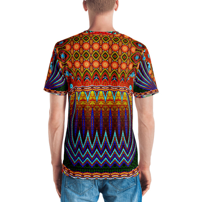 MAASAI-ENGAI Decorated Beads Devarshy Animal Print Men's Printed T-Shirt PF - 1073A