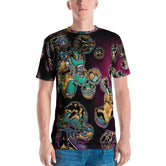 MICROCOSMOS Dark Organic Culture Devarshy Printed Men's T-Shirt PF - 9999A