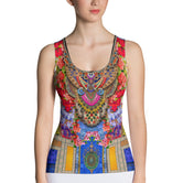 NATURE MORTE Radiant Florals Devarshy Ladies Stretchable Tank Top PF - FIFTY001
