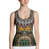 NATURE MORTE Seahorse Bejeweled Devarshy Fitted Lycra Tank Top PF - 1108A