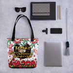 Devarshy Today Is Tomorrow's Yesterday Florals Printed Canvas Ladies Tote  Bag PF - TODAY01