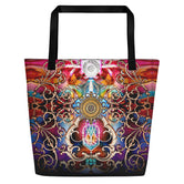 BAROCOCO Royal Ornate Devarshy Printed Canvas Beach Bag PF - 1053A