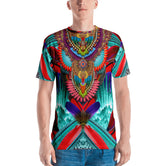 NATURE MORTE Colorful Feathers Devarshy Jersey Printed Men's T-Shirt PF - 020