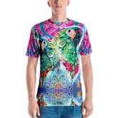 PHOENIXOLOGY Pink Decorated Birds Devarshy Printed Men's T-Shirt PF - 1022B