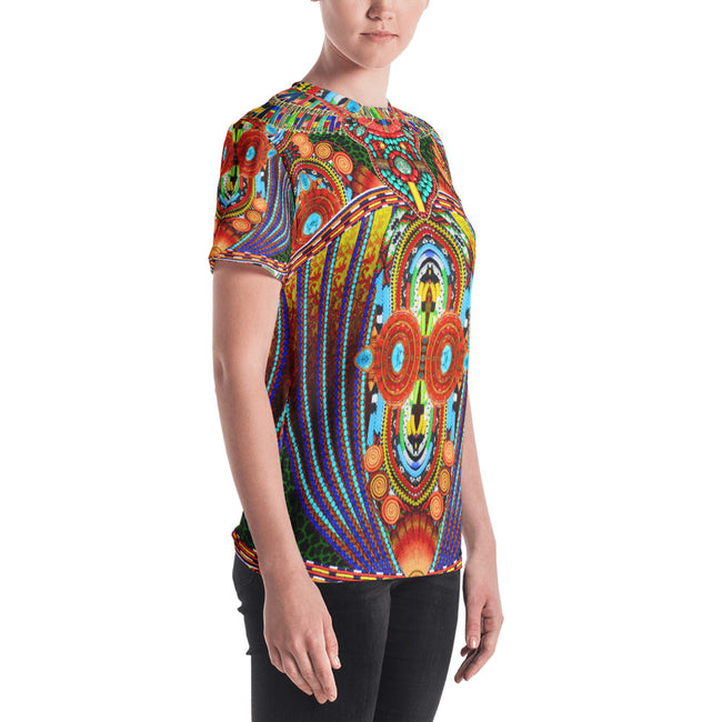 MAASAI-ENGAI Decorated Beads Devarshy Animal Print Women's T-Shirt PF - 1073A