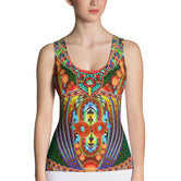 MAASAI-ENGAI Tribal Beads Devarshy Animal Print Ladies Tank Top PF - 1073A