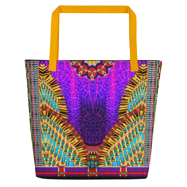 NATURE MORTE Majestic Magenta Animal Print Devarshy Beach Bag PF - 1092B