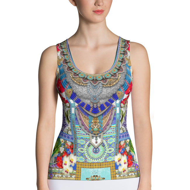 MOROQQOE Beautiful Aqua Fes Devarshy Ladies Jersey Tank Top PF - FIFTY002