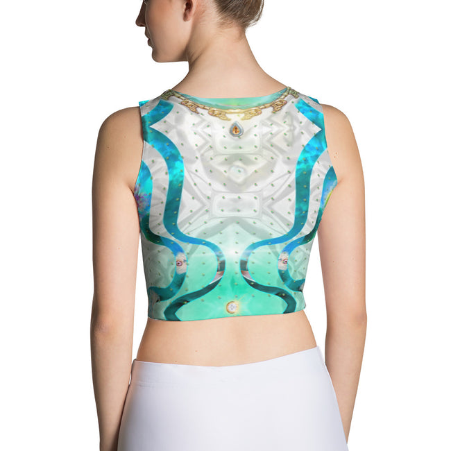 PHOENIXOLOGY Decorative Birds Devarshy Women Fitted Crop Top PF - 1022A