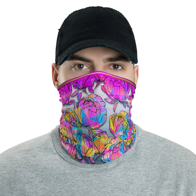 Where Roses Bleed to Oblivion, Printed Neck Gaiter, Floral Face Mask, PF - 11158