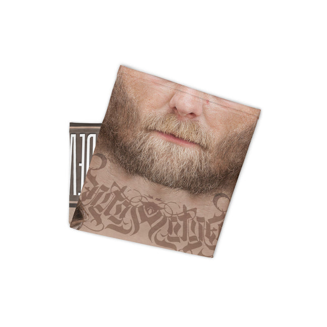 Blonde Beard Man Neck Gaiter, Matured Male Face Mask For Protection, Fabric Face Cover/ Neck Tube, PF - 11117