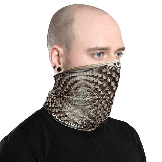 Metal Spikes Fetish Neck Gaiter, Washable Face Mask For Protection, Cloth Face Cover/Neck Tube, PF - 11266