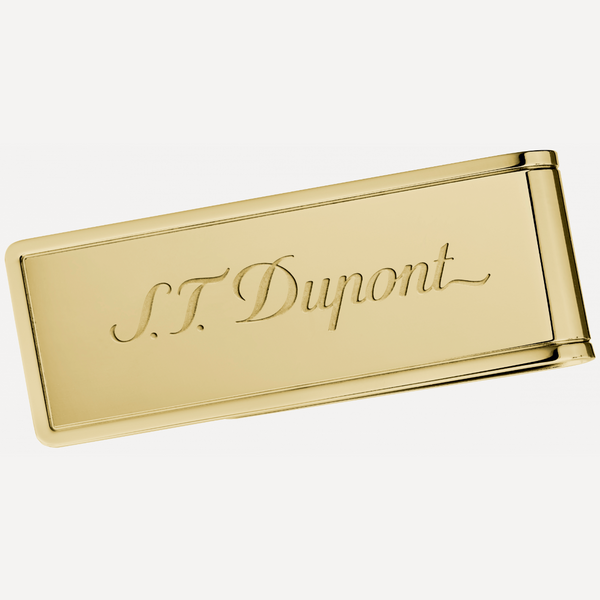 S.T. DUPONT Yellow Gold PVD Rectangle Money Clip