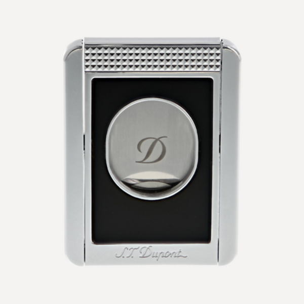 S.T. Dupont CIGAR CUTTER AND STAND BLACK CHROME 003415