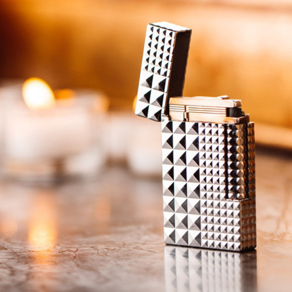 S.T. Dupont  LI L2 DIAMOND HEAD / PALLADIUM Palladium Finish Soft Flame Lighter 16066
