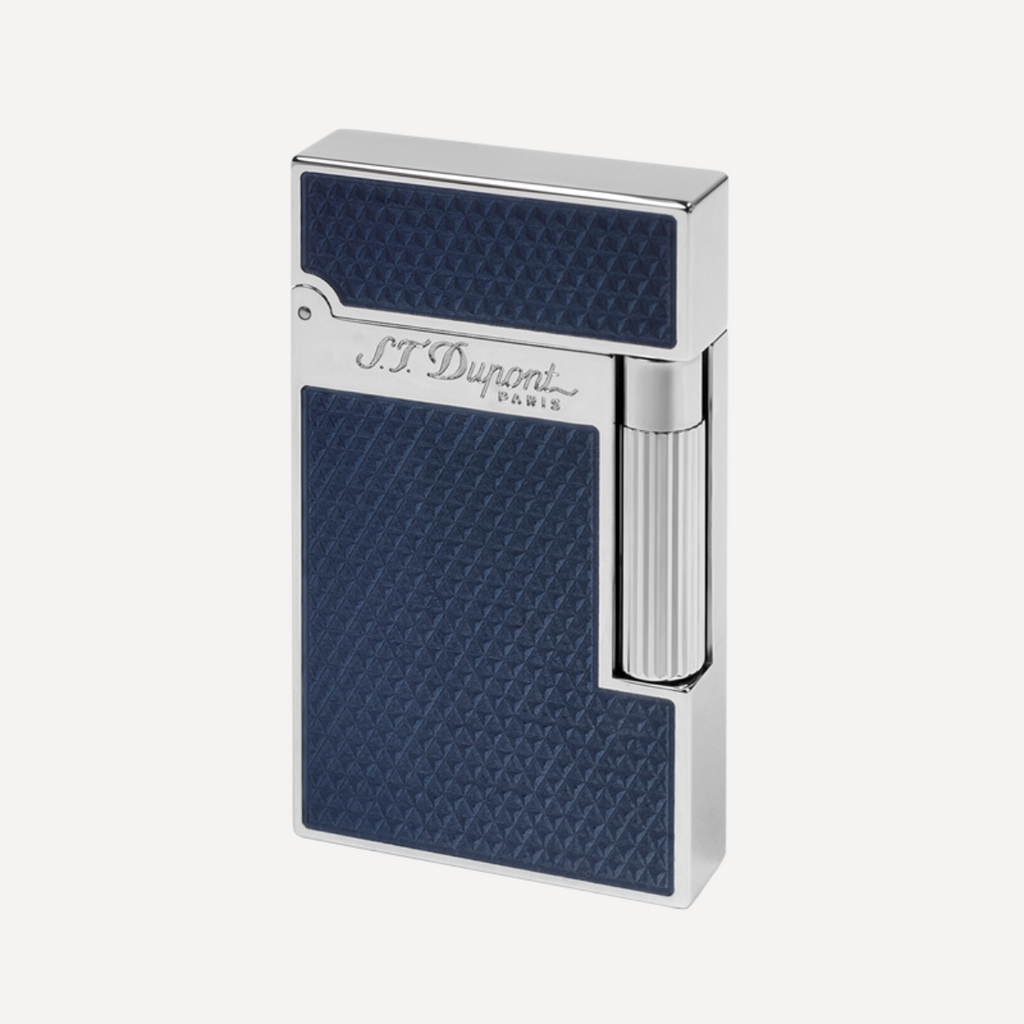 S.T. Dupont Line 2 Fire Head BLUE LACQUER/PALLADIUM Soft Flame Lighter 016252