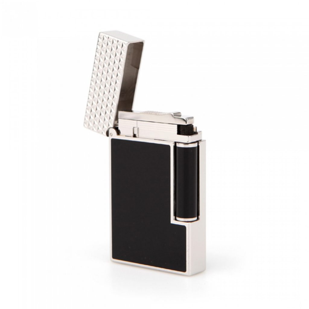 S.T. Dupont Line 2 PALLADIUM BLACK LACQUER Finish Soft Flame Lighter 016746