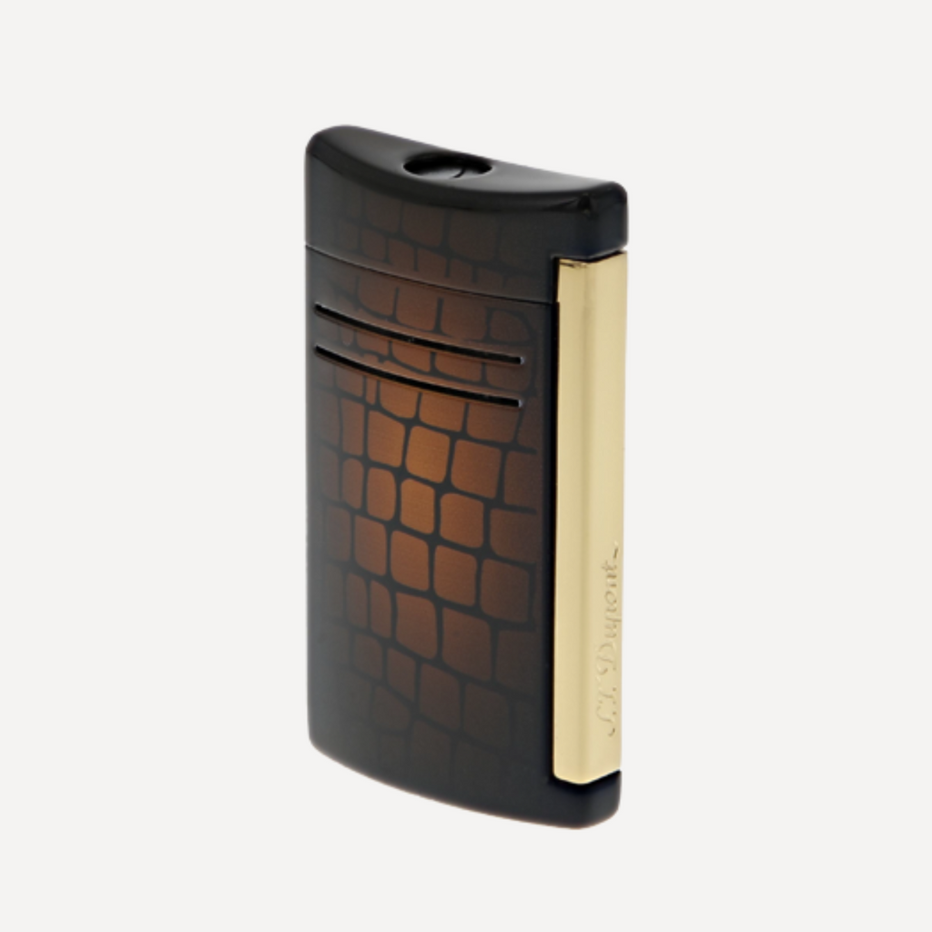 S.T. Dupont MAXIJET CROCO DANDY BROWN Torch Lighter 020168N