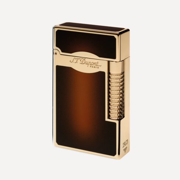 S.T. Dupont Line 2 Le Grand SUN BURST BROWN and GOLD Soft Flame Lighter 23012