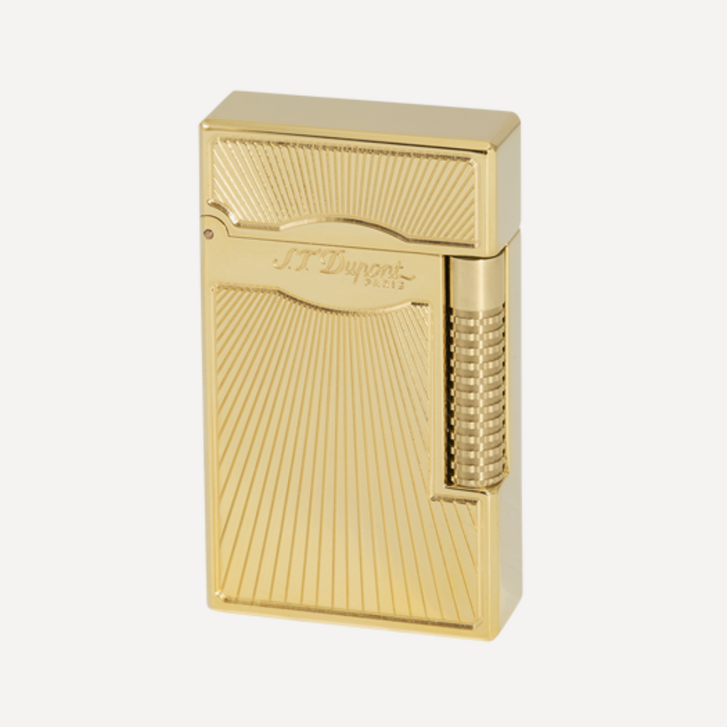 S.T. Dupont Line 2 Le Grand Dancing Flame Goldsmith Yellow Gold Soft Flame Lighter 023017