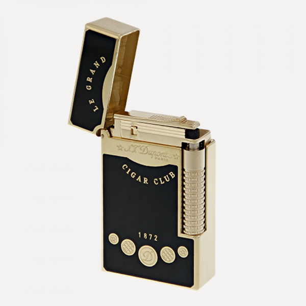 S.T. Dupont Line 2 LE GRAND CIGAR CLUB BLACK Double Flame Lighter 23112