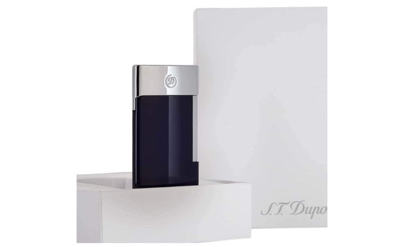 S.T. Dupont LIGHTER E-SLIM BLUE-CHROME - 027008E